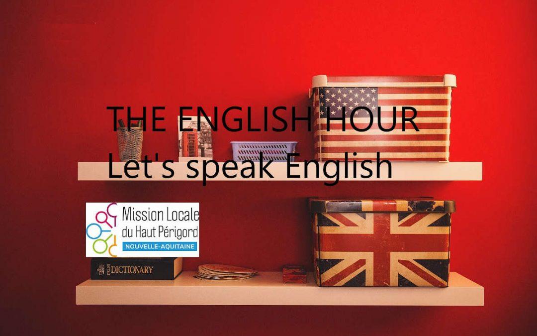 Affiche avec les drapeaux anglais et américain