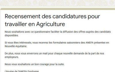 Campagne de recrutement pour travailler dans l'agriculture