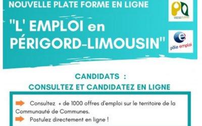 Offres d'emploi du territoire de la communauté de communes Périgord Limousin