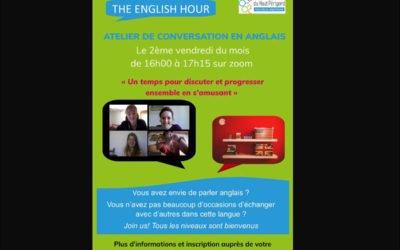 English hour – Atelier de conversation en anglais Vendredi 8 janvier