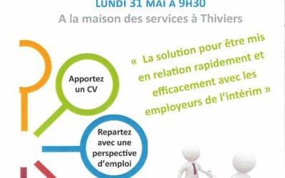 Job Dating Intérim : à Thiviers le lundi 31 mai 2021