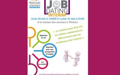Job dating intérim – 20 et 31 mai 2021 à Thiviers