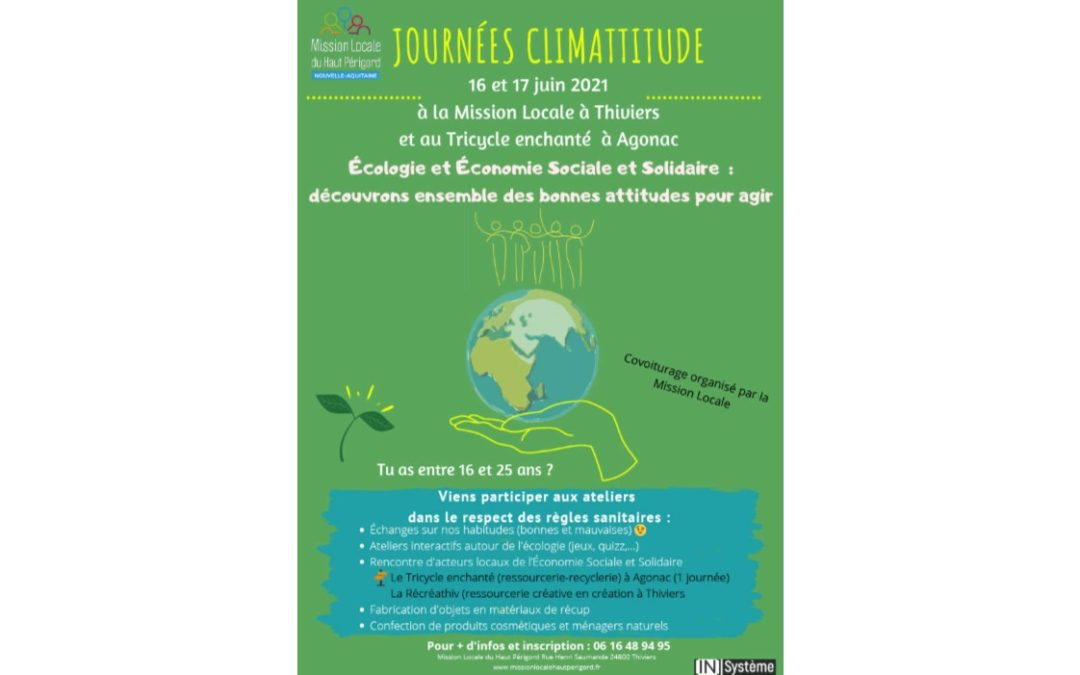 JOURNEES CLIMATTITUDE 16 et 17 juin 2021