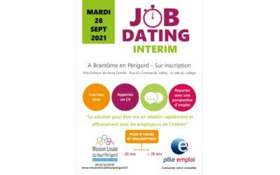 Job Dating intérim Brantôme – 28 sept 2021